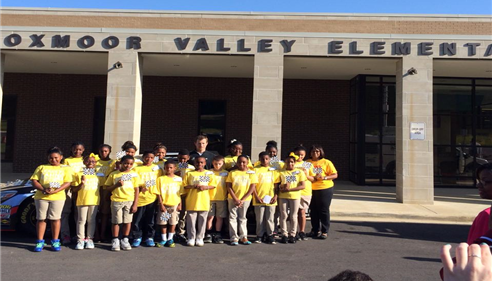 Leah Wiggins - <pre>Kasey Kahne visits Oxmoor Valley Elementary School for Thank A Million Teachers</pre>