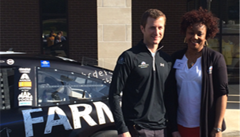 Leah Wiggins - <pre>Kasey Kahne & Leah Wiggins team up for Thank A Million Teachers</pre>