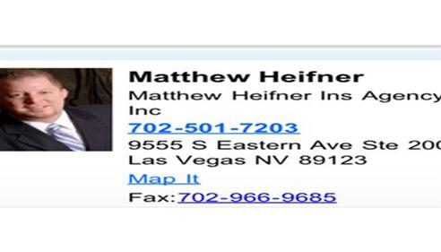 Matthew Heifner - <pre>Helping in 89123, 89183, 89052, 89044, 89014, 89002 Las Vegas and Henderson</pre>