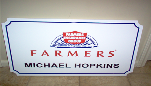 Michael Hopkins - <pre>Office sign.</pre>