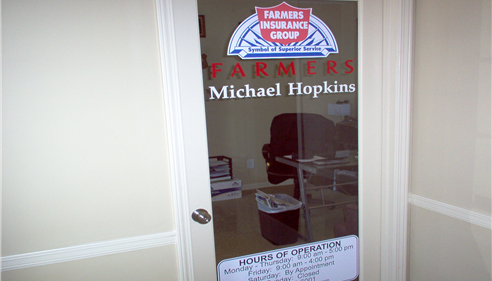 Michael Hopkins - <pre>Office door.</pre>