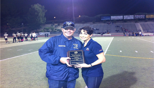 Maureen Martinez - <pre>Maureen & Coach Flynn of the Santa Clarita Wildcats</pre>