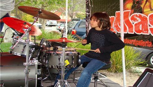 Maureen Martinez - <pre>My son Zayne, the Drummer playing at a show at Keyboard Galleria Music Center.</pre>