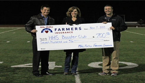Mike Ridley - <pre>Heritage High School Athletic Booster Club Donation</pre>