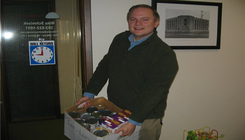 Mike Schmisek - 2011 Mike Schmisek -Farmers Insurance Agency food drive.