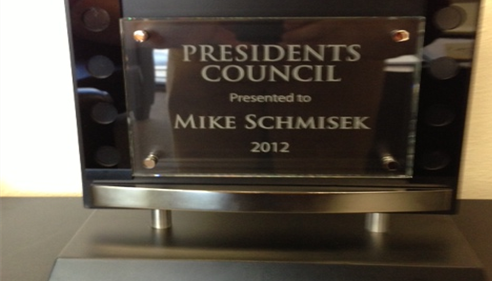 Mike Schmisek - <pre>Presidents Council 2012</pre>