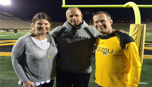 Matthew Smith - <pre>Matt with Coach Gary Pinkel after the Mizzou Tigers football practice.</pre>