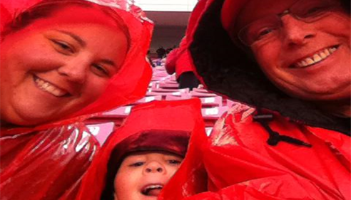 Paul McGarrell - <pre>Cheering on our utes in the rain!</pre>