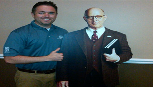 Patrick Wertzberger - <pre>Me and Professor Burke! A great addition to the Farmers® Insurance team.</pre>