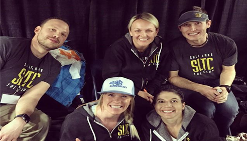 Rory Duckworth - <pre>Hanging out with the Salt Lake Tri Club at the Sandy, UT Expo Center</pre>