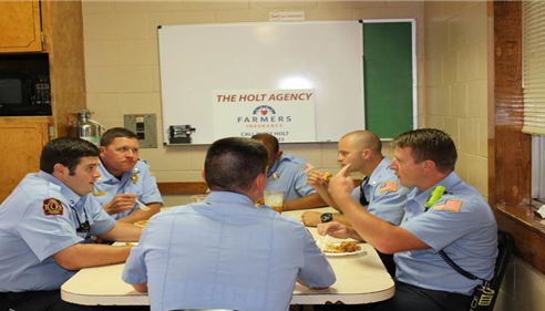 Ricky Holt - <pre>Providing lunch for Opelika Firefighters</pre>