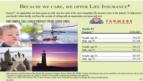 Ronald Hyre - <pre>Great new rates for protecting your familys future!</pre>