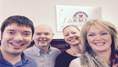 Richard James - <pre>The 2015 Richard James Agency Team.  Kyle, Richard, Cassie and Judy!</pre>