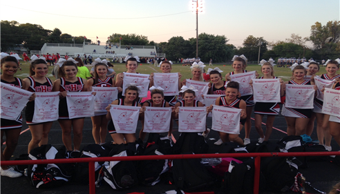Richard Lippitt - <pre>Grove High School Cheerleaders with our RALLY TOWELS!</pre>