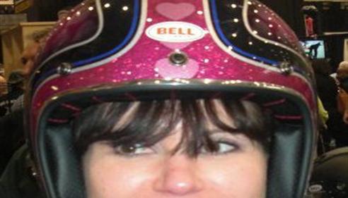 Rebecca Miller - <pre>My pretty pink helmet!</pre>