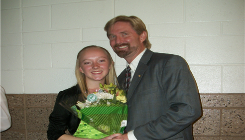Roger Olcott - <pre>Escorting my daughter Bailey at her Cheer Review.</pre>