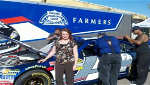 Richard Winters - <pre>Lisa Patrick with the Kasey Kahne car at Dos Gringos in Mesa, AZ</pre>
