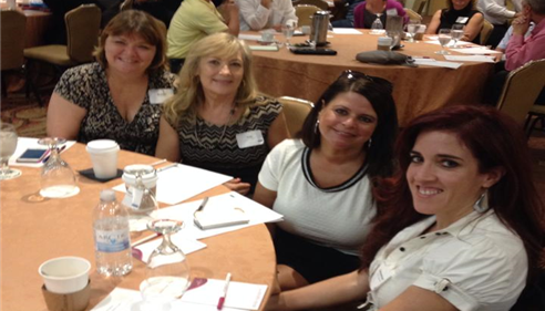 Samantha Johnson - <pre>Samantha Johnson and her fellow Farmers® agents from Las Vegas at a meeting.</pre>