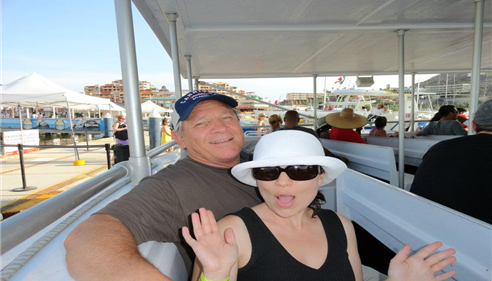 Sarah Seigart - <pre>My Dad and I celebrating his 65th Birthday in Cabo San Lucas.</pre>