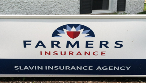 Scott Slavin - <pre>Slavin Insurance Agency, new Farmers® Logo sign at our office in Elkton, MD.</pre>