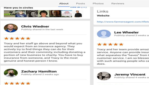Tracy Fletcher - <pre>A few more of our Google Reviews.</pre>
