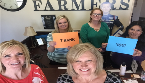 Tracy Fletcher - <pre>Our awesome team including Kasey Kahne saying THANK YOU to our amazing clients!</pre>