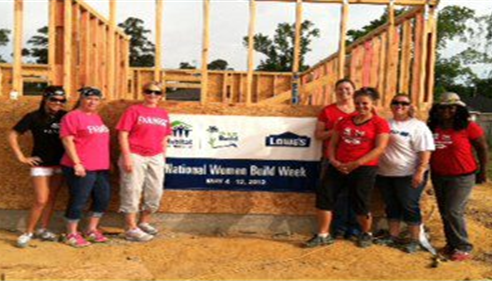 Tracy Fletcher - <pre>Our agency and Lowes volunteers - Habitat for Humanity May 2013</pre>
