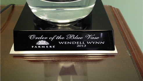 Wendell Wynn - <pre>Only one chance to win in an agent&rsquo;s career.  Quite an honor.</pre>