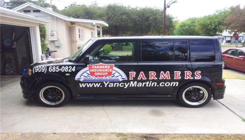 Yancy Martin - <pre>Yancy Martin Farmers Insurance Car</pre>
