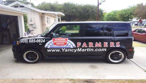 Yancy Martin - <pre>Yancy Martin Farmers Insurance Car</pre>