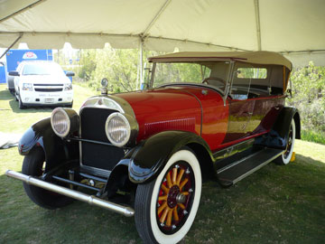 April Schaffroth - 1925 Cadillac Phaeton is the first car insured by Farmers®